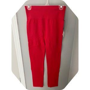 Revαmped - Red ribbed summer leggings